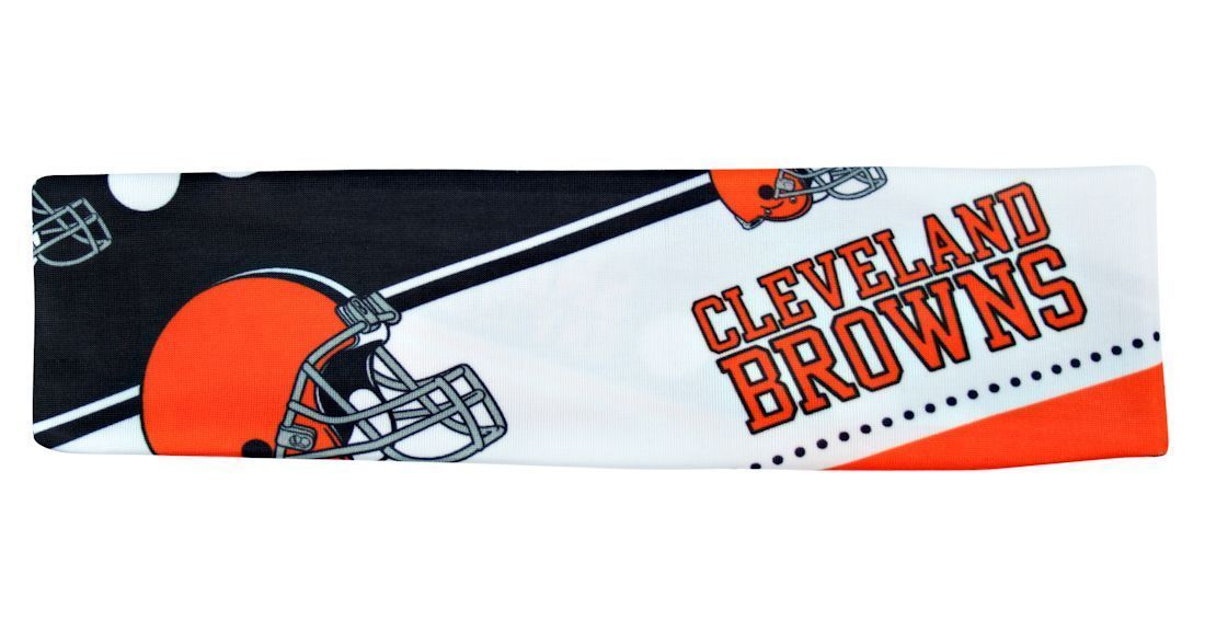 CLEVELAND BROWNS STRETCH PATTERN TEAM HEADBAND GAME TAILGATE PARTY NFL FOOTBALL