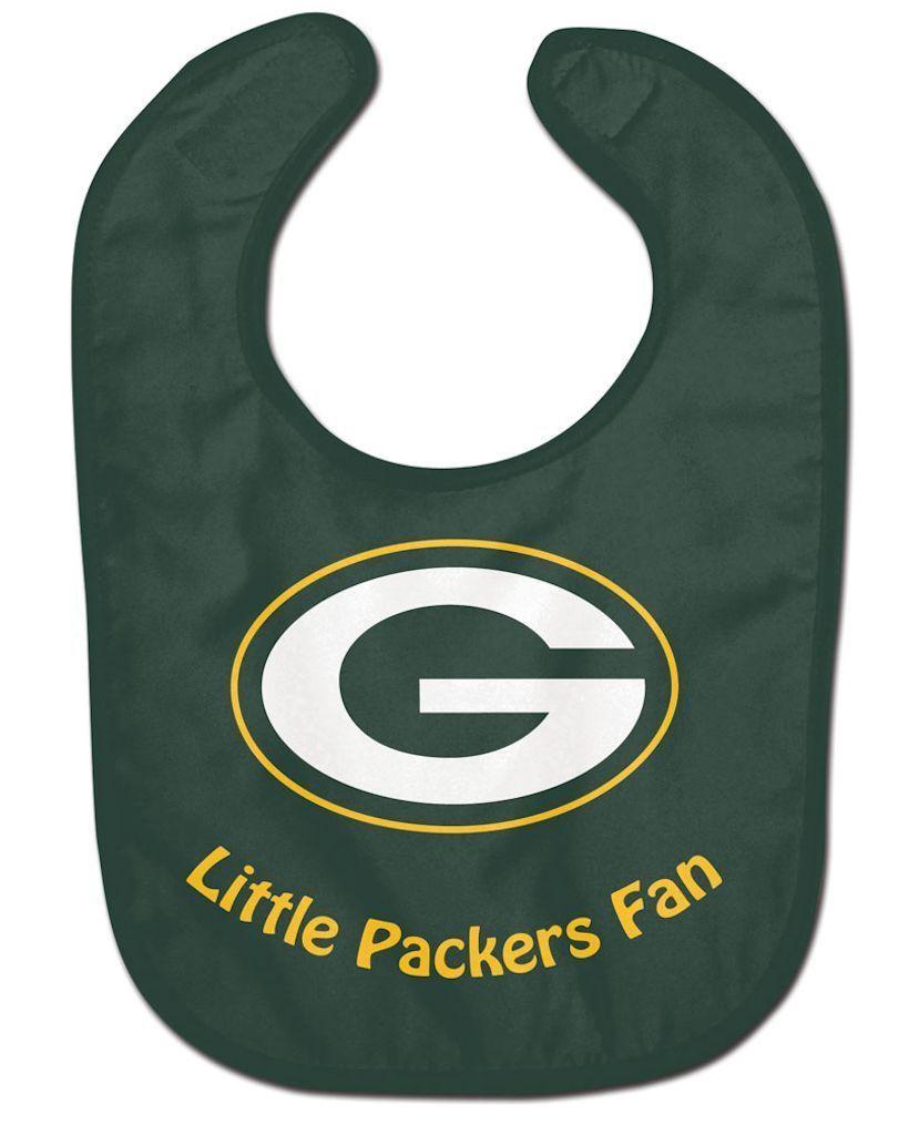 GREEN BAY PACKERS ALL PRO BABY BIB VELCRO CLOSURE TEAM COLOR & LOGO NFL FOOTBALL