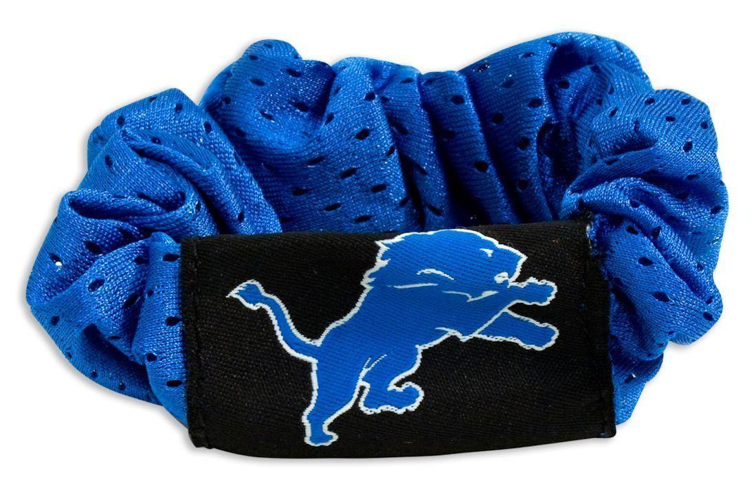 DETROIT LIONS SCRUNCHIE HAIR TWIST PONYTAIL HOLDER TEAM LOGO NFL FOOTBALL