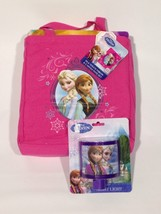 Disney Frozen Lot Elsa Anna Silk Touch Throw Blanket Canvas Tote Night L... - $29.97