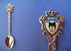 Primary image for THE PAS Manitoba Souvenir Collector Spoon Collectible CAT MAN MASK