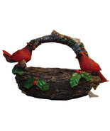 Rare and finely detailed birdnest with Cardinals - $15.00