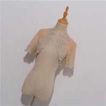 Long Sleeve Wedding Lace Cover Ups Retro Style Lace Bridal Boleros, white, plus image 11