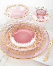 High Class Elegance Vintage Style 24k Gold Scroll Accent Pink Blush Dinn... - $5,000.00