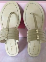 Kate Spade Nib Sindy Sandals T Strap Thong Size 8 Color Honey - $85.00