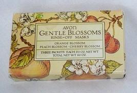 Avon Gentle Blossoms Rinse Off Mask Vintage 1983 Packets Orange Peach Cherry Box - $14.80