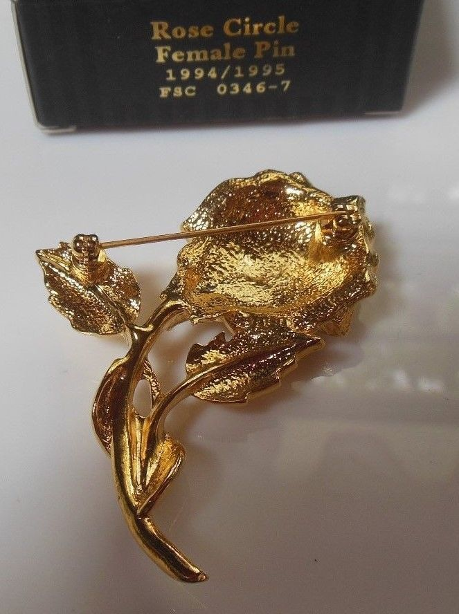 Vintage Avon Rose Circle Female Pin 96 / 97