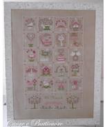 Shabby Spring Calendar cross stitch chart Cuore e Batticuore  - $15.30