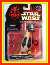 STAR WARS ACCESSORY SET CARDED UNDERWATER,WITH BUBBLING BACKPACK,COLLECT... - $22.99