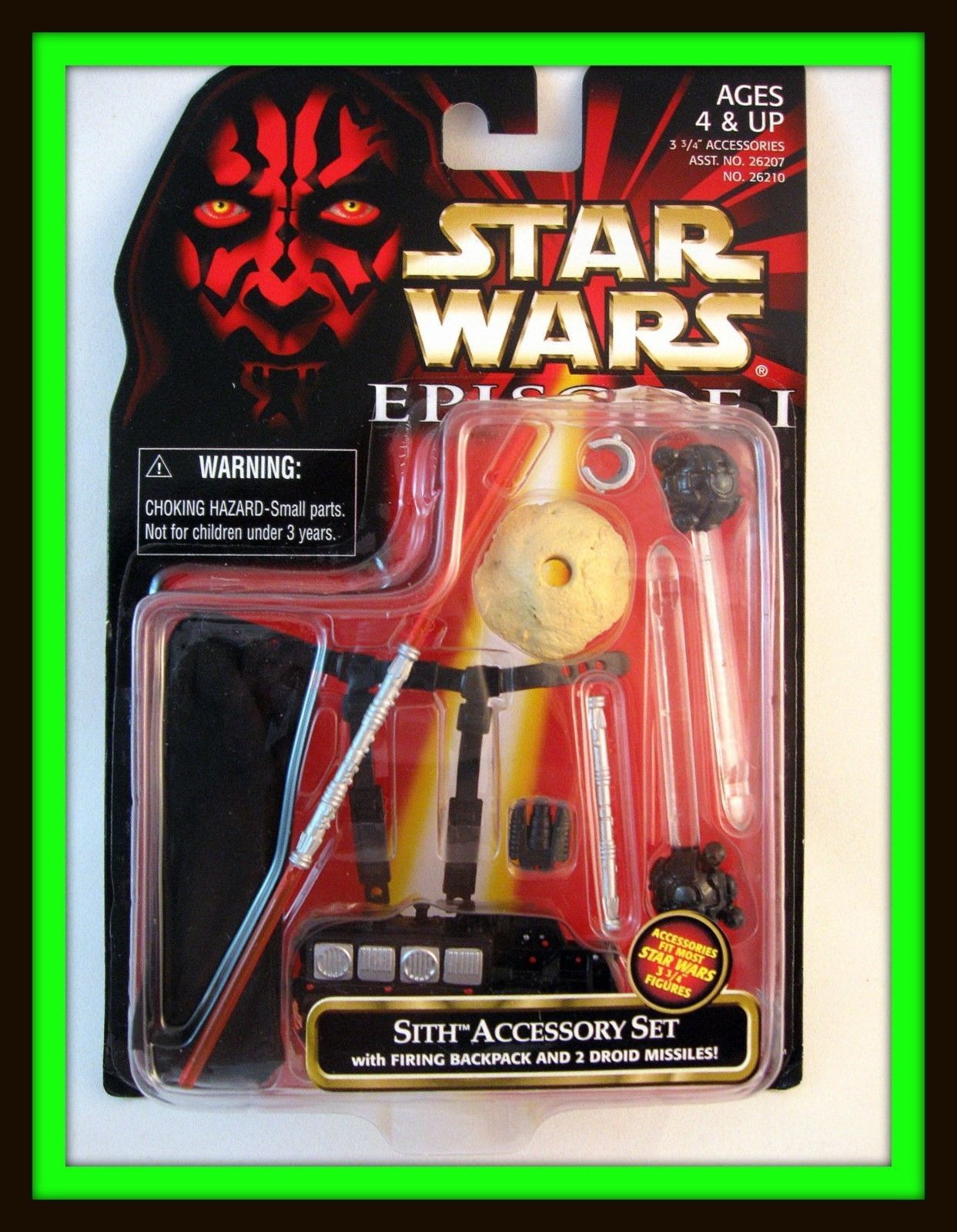 Primary image for STAR WARS ACCESSORY SET CARDED SITH WITH FIRING BACKPACK AND 2 DROID MISSILES