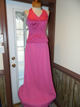 David's Bridal Pink size 4 Halter style Prom Pageant Cruise Bridesmaid D... - $39.99