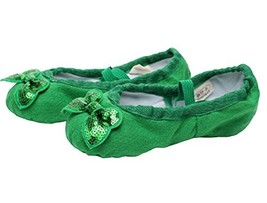 Dance Class Ballet Shoes/Canva Dance Shoes for Pretty Girl (19CM Length) Red image 2