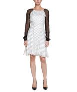Three Dots Off-White Dot Print Silk Dress Sz S  NWOT $348 - $157.41