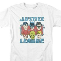 Justice League DC Heroes T-shirt comic book superfriends white cotton DCO745 image 1