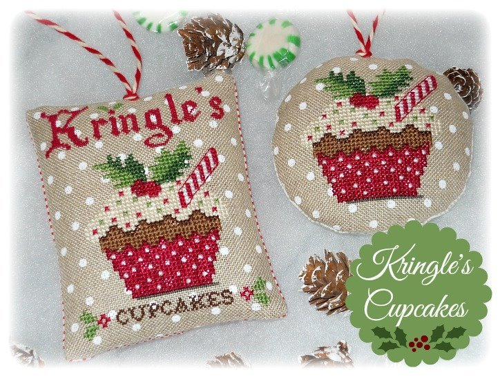 Primary image for Kringle's Cupcakes christmas cross stitch chart Grandma Kringle's Needleworks