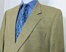 Jack Victor Blue Lucawood Silk Wool Blend Two Button Sport Coat Blazer 46XL - $72.43