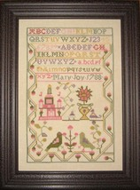 Mary Joy 1788 Antique Sampler Reproduction cross stitch chart Samplers R... - $14.00