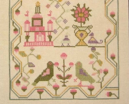 Mary Joy 1788 Antique Sampler Reproduction cross stitch chart Samplers Revisited