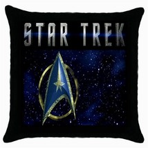 NEW Star Trek Logo Black Cushion Cover Throw Pi... - $15.00
