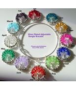Choose a Birthstone Crystal Beaded Tree of Life Bangle Bracelet - $24.99