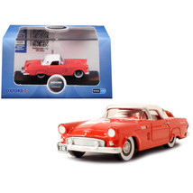1956 Ford Thunderbird Fiesta Red with Colonial White Top 1/87 (HO) Scale... - $19.86