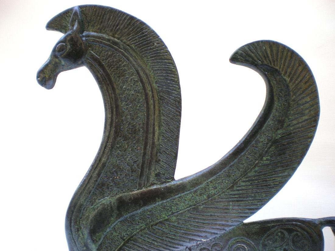 Bronze horse statue pegasus animal sculpture