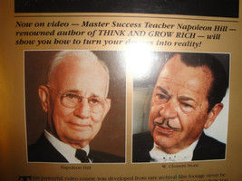 THE MASTER KEY TO SUCCESS - Napoleon Hill & W.Clement Stone LIVE Wealth ... - $138.48