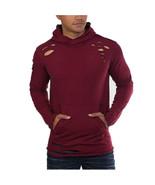 Jordan Craig Thrasher Ripped Men's Pullover Fashion Hoodie Wine 8264h-wine - $39.95