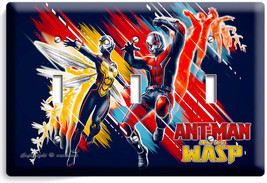 Ant Man And The Wasp Small Superheroes 3 Gang Light Switch Wall Plate Room Decor - $16.19
