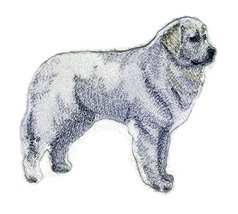 Amazing Custom Dog Portraits [Great Pyrenees] Embroidery Iron On/Sew pat... - €8,51 EUR