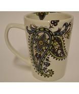 Table Tops Gallery ~ Hand Painted ~ Angela ~ Coffee Cup Mug ~ Paisley Fl... - $19.95