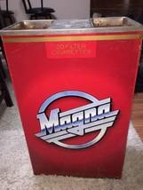 MAGNA CIGARETTES PACK TIN METAL ADVERTISING SIGN STAND UP ASHTRAY REYNOL... - $84.14
