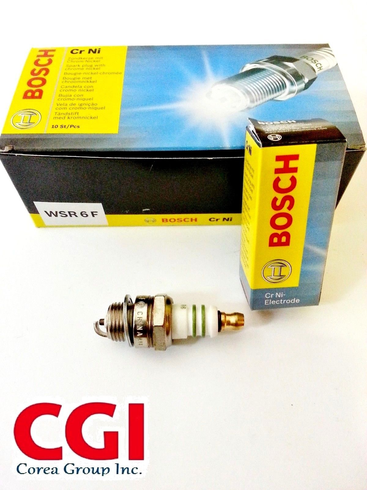 Box of 10 Bosch WSR6 Spark Plug for Cut-Off Saws - Replaces Stihl 1110-400-7005