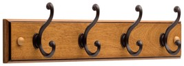 Coat Hat Wood Rack Foyer Hallway Bedroom Organizer Multi Use Scarf Rail NEW - $33.44