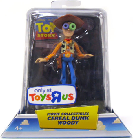 Disney Toy Story Cereal Dunk Woody 3.75 Inch Movie Collectibles Figure Exclusive