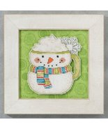 Frosty Mug Winter Cheer snowman cross stitch ki... - $7.20