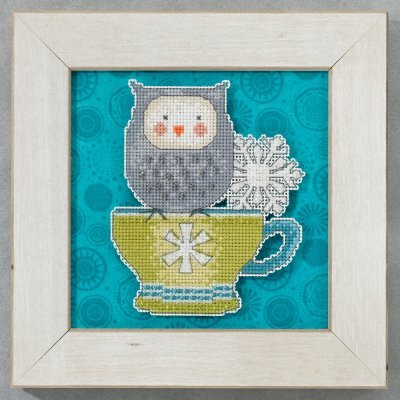 Primary image for Warm & Wise Winter Cheer owl cross stitch kit Debbie Mumm Mill Hill
