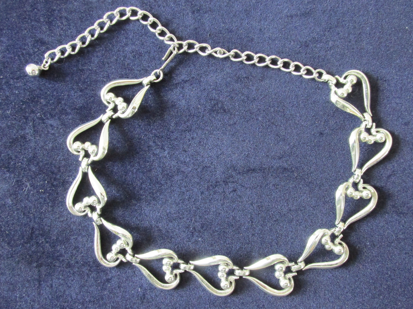 Primary image for Retro / Vintage Coro Silver Toned Dressy Necklace / Choker