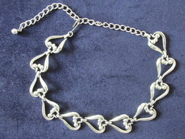 Retro / Vintage Coro Silver Toned Dressy Necklace / Choker - $9.99