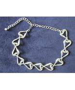 Retro / Vintage Coro Silver Toned Dressy Necklace / Choker - £7.72 GBP