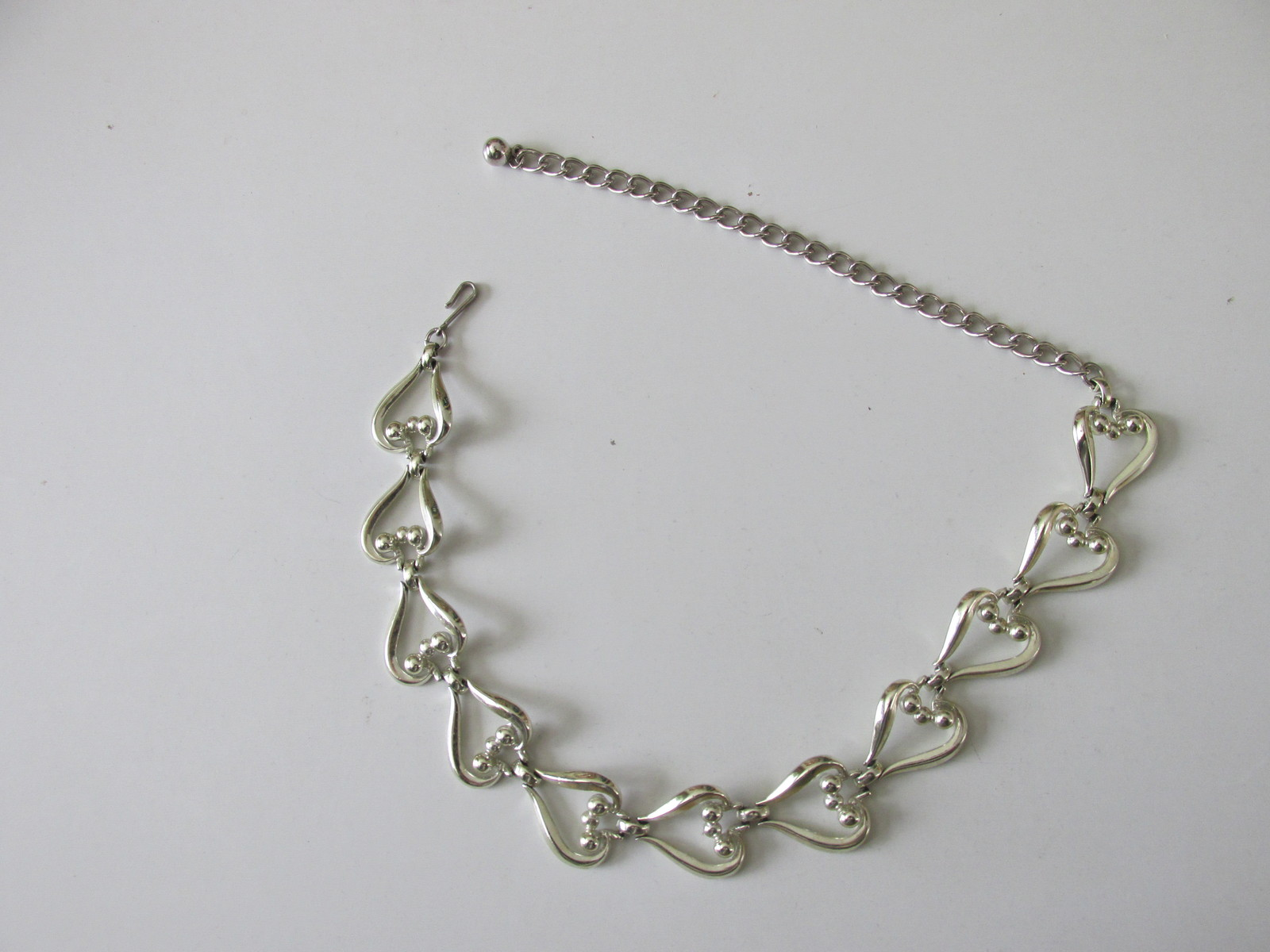 Retro / Vintage Coro Silver Toned Dressy Necklace / Choker