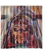 Iron Maiden Undead Airplane Sky Clouds Fabric Shower Curtain Waterproof - $34.78+