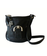 Authentic B. Makowsky Black Leather Crossbody ... - $35.00