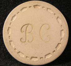 "N/D Casino Chip From: ""B.C. (Brunswick Club)""- (sku#3020) - $2.99"