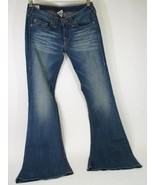 True Religion Jeans Sz 24 Carrie Bugsy Gold Wide Flare Rough River Wash ... - $164.89