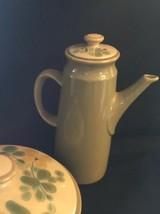 Franciscan China USA Pebble  Beach Tea Pot With Lid Avocado Green MCM - $36.47
