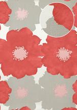 Atlas TEM-5108-5 Flowers wallcovering wall metallic highlights red viole... - $115.22