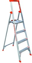 Portable Aluminum Stepladder w 4 Steps Heavy Duty Lightweight 6' Platfor... - $142.86