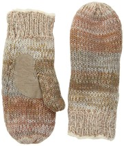Isotoner Women's Chunky Cable Knit Sherpasoft Mittens, Ivory/Multi, One ... - $26.40
