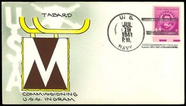 USS INGRAHAM DD-444 Destroyer Mae Weigand Hand Painted 1st Day Commission Cancel - $19.95